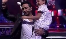 """هذه هي مفاجأة تامر حسني لـ أحمد السيسي المشترك بـ""""The Voice Kids"""""""