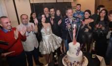 ميرفا قمر تحتفل بعيد ميلادها بحضور أسعد رشدان وكميل متى-بالصور