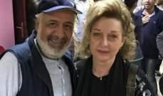 """بالصورة- بعد 20 عاماً.. أيمن زيدان ونادين خوري يجتمعان من جديد في """"أمينة"""""""