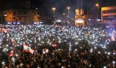معتصم النهار وهند صبري وكندة علوش يتفاعلون مع إعتصامات لبنان