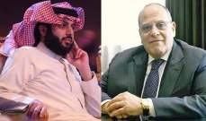 صادق الصباح يعبر لـ تركي آل الشيخ عن تقديره له وللسعودية لما قدمته للبنان- بالصورة