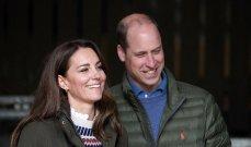 الأمير ويليام وكيت ميدلتون وابنهما الأمير جورج وإيد شيران في مباراة انكلترا وألمانيا- بالصور