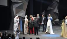 """خاص بالصور- حاكم دبي يفتتح عروضات مسرحية """"الفارس"""" لمروان الرحباني"""