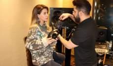 نوال الزغبي في الاستوديو لتسجيل أغنيتها الخليجية...يالصور