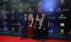 خاص الفن-رانيا يوسف وهنا شيحة ومحمد حفظي في عرض فيلم