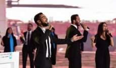 """محمد الشرنوبي يشارك في الإحتفالات الوطنية للمرة الثانية بـ""""جامع وكنيسة"""".. بالصور"""