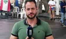 إصابة إدمون ساسين خلال تغطيته المظاهرات في وسط بيروت- بالصور
