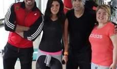 بالصورة- احمد السقا وغادة عادل ومها أحمد في Gym