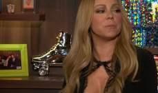 ماريا كاري تصل متأخرة إلى برنامج تلفزيوني وتتجنب الحديث عن لوبيز وميناج