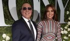 تاليا وزوجها في حفل جوائز توني المسرحية