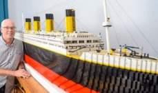 """سفينة تيتانيك مصمّمة من 40 ألف مكعب """"الليغو"""".. بالصور"""