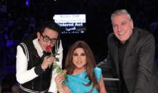 أحمد حلمي يقلد نجوى كرم ويمنعها من التصويت ومايكل جاكسون حاضر في arabs got talent