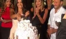بالفيديو- كاظم الساهر يحتفل بعيد ميلاد جيسيكا عازار