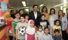 راغب علامة يزور مركز سرطان الأطفال في لبنان.. بالصور