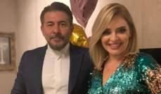 لحظة مؤثرة جداً بين عابد فهد وزوجته زينة يازجي وهي تبكي- بالفيديو