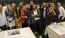 خاص بالصور- عامر زيان يحتفل بعيد ميلاده مع نجوم الفن والاعلام