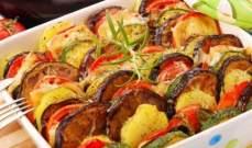 إليكِ هذه الوصفة لتحضير صينية البطاطا والخضار