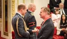 الأمير ويليام يمنح كريستوفر نولان القلادة الملكية البريطانية