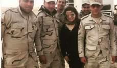 """روجينا مع جنود الجيش: """"ربنا يحميكم لمصر"""""""