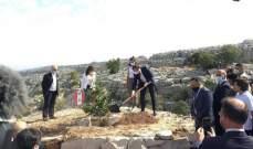 ماكرون يغرس أرزة بمحمية جاج إحتفالاً بمئوية لبنان الكبير.. بالصور