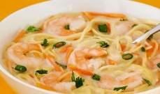 شوربة الروبيان حساء بطعم أشهى ثمار البحر