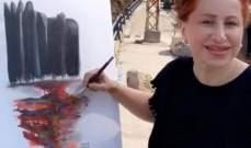"""الفنانة التشكيلية مجد رمضان: """"ستنهض بيروت كالعنقاء من تحت الرماد""""-بالصورة"""