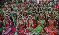 حفل زفاف جماعي لـ 151 عروس هندية يتيمة