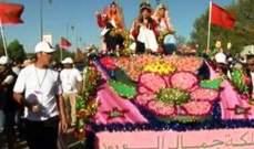 المغرب إحتفلت بمهرجان الورد وإختارت ملكته