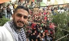 يعقوب شاهين يزور المخيمات الفلسطينية في لبنان