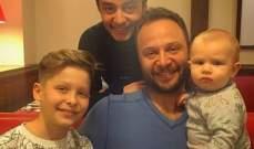 للمرة الاولى مكسيم خليل مع عائلته...بالصورة