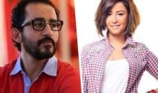 أحمد حلمي ومنة شلبي يشوقان الجمهور لفيلمهما بجلسة تصوير