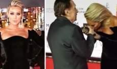 قبلة مايا دياب ليد عادل إمام تدل على أخلاقها العالية وتقديرها للكبار