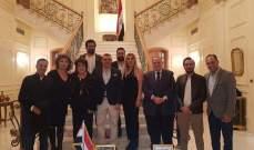 نادية الجندي ونبيلة عبيد وسميحة أيوب بضيافة السفير المصري بلبنان