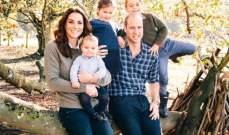 العائلة المالكة تصدر بطاقات عيد الميلاد