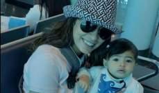 الصورة الأولى لـ روبي مع طفلتها