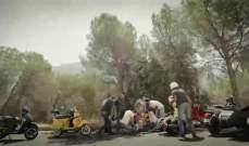 شادي شعبان وحبيته يتعرضان لحادث سير على دراجته النارية..بالفيديو