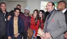 """أبطال """"يا تهدي يا تعدي"""" يحتفلون بالعرض الخاص للفيلم بحضور وفاء عامر ومحمد رجب"""
