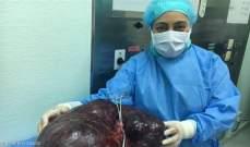 إستئصال ورم من بطن إمرأة يزن 17.5 كيلو غرام