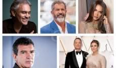 فلاش باك: أندريا بوتشيلي وميل غيبسون وتوم هانكس وكلوي كارداشيان وأنتونيو بانديراس وآخرون أبرز إصابات كورونا العالمية لعام 2020