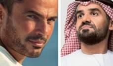 هذا ما جمع حسين الجسمي وعمرو دياب في أبو ظبي.. بالصورة