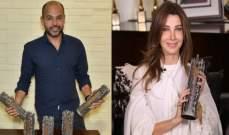 """أبو ويسرا ونانسي عجرم يحصلون على """"جائزة الموسيقى العربية""""!"""