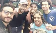 """بالصور..تامر حسني يحتفل بفيلم """"أهواك"""""""