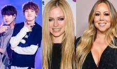 ماريا كاري وأفريل لافين وفرقة BTS يلغون حفلاتهم بسبب كورونا