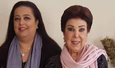 صورة نادرة لرجاء الجداوي وإبنتها.. شاهدوا كيف كانتا - بالصورة