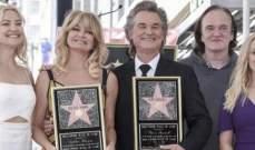 غولدي هاون وحبيبها منذ 35 عاماً يكرمان بنجمتين في هوليوود