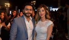ماذا قالت بسمة بوسيل لزوجها تامر حسني عن ألبومه الجديد؟-بالصورة
