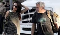 أمل كلوني تزور زوجها في موقع تصوير فيلمه الجديد