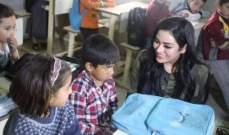"أحلام حجي تزور مخيم ""هرشم"" في كردستان.. بالصور"