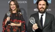 كايسي أفليك وناتالي بورتمان ينالان جائزة أفضل ممثل وممثلة