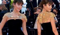 نور عريضة ترتدي الذهب على كتفيها في مهرجان كان السينمائي -بالصور